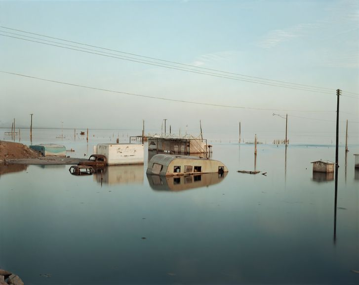 Submerged Trailer, Salton Sea, California by Richard Misrach