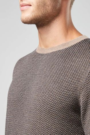 Tan Textured Crew from the Next UK online shop