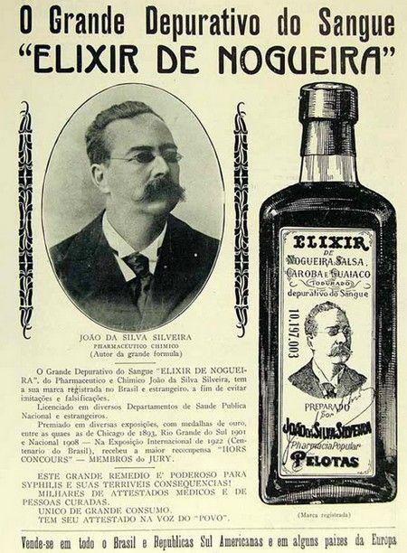 Anúncio antigo do Elixir de Nogueira - anos 20