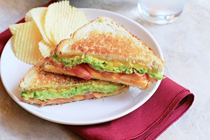 Bacon Avocado Grilled Cheese Sandwich. | Recipes | Pinterest