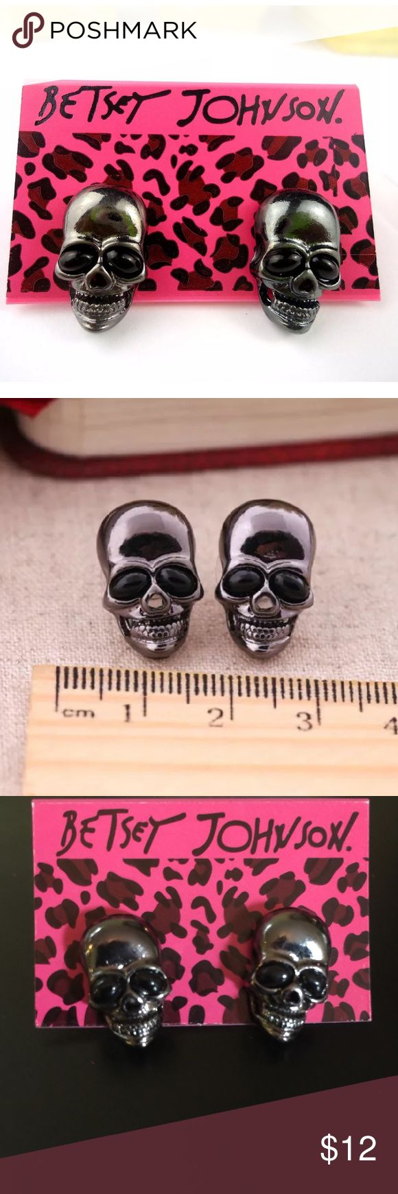 Host Pick Cute Skull Earrings Betsy Johnson Skull Earrings Betsey Johnson  Jewelry Earrings
