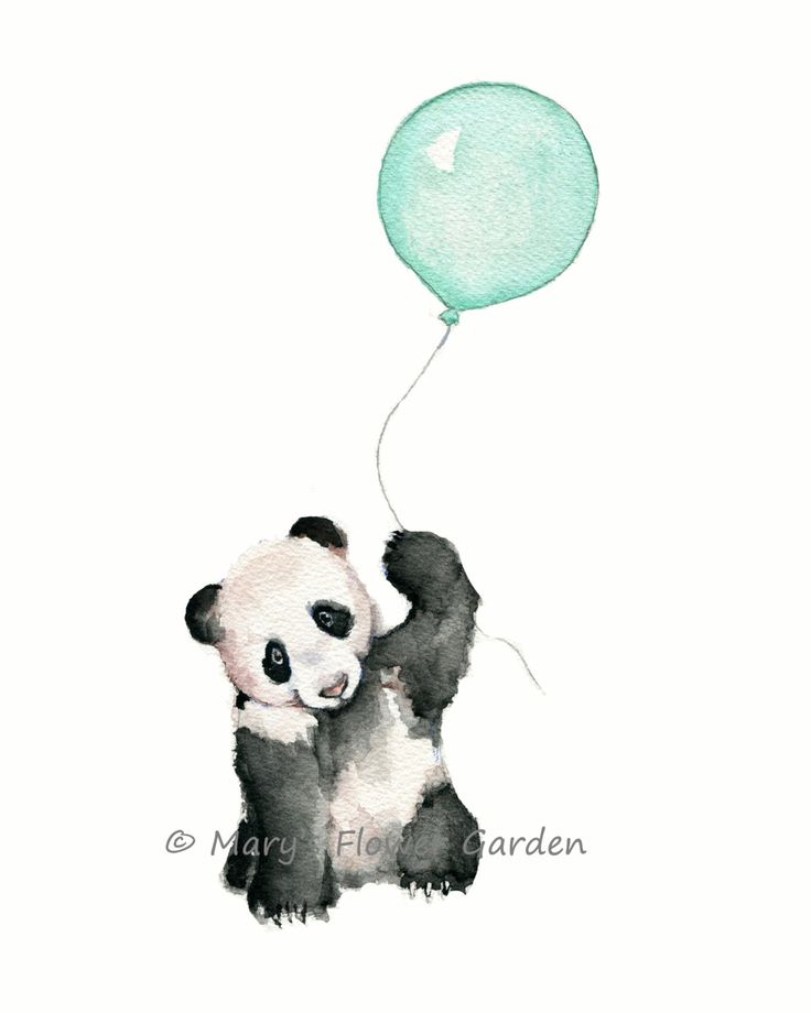art nursery, mint nursery print, mint balloons, mint green wall art, mint baby shower, panda nursery print, panda bear illustration by Marysflowergarden on Etsy https://www.etsy.com/listing/234759533/art-nursery-mint-nursery-print-mint