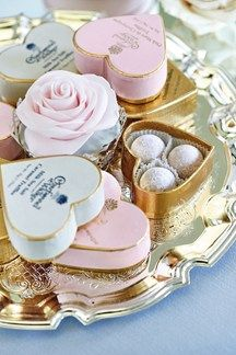 Combining two of our great loves (champagne and chocolate), these adorable heart-shaped boxes of goodness make the prettiest favours (BridesMagazine.co.uk)