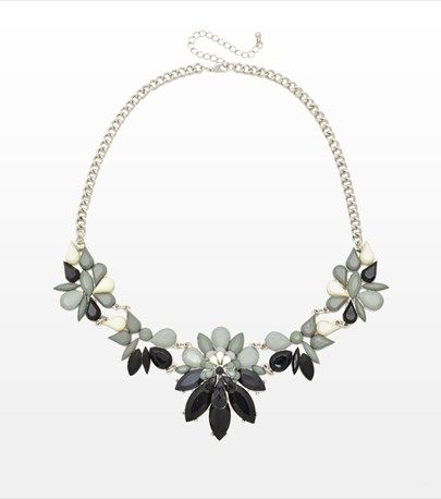 This gorgeous floral statement necklace with certainly brighten your LBD!