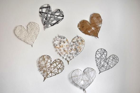 DIY Heart Art Decorations for Valentine's Day