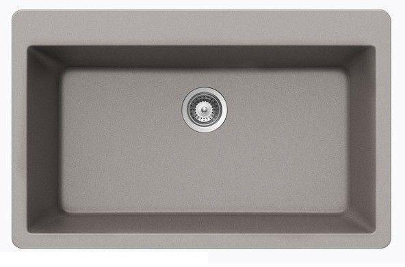 chrome quartz composite single bowl undermount drop in. Black Bedroom Furniture Sets. Home Design Ideas
