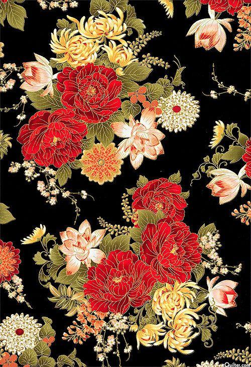 Imperial Garden Palatial Bouquet Black Gold Imagenes