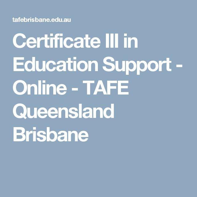 Certificate III in Education Support - Online - TAFE Queensland Brisbane