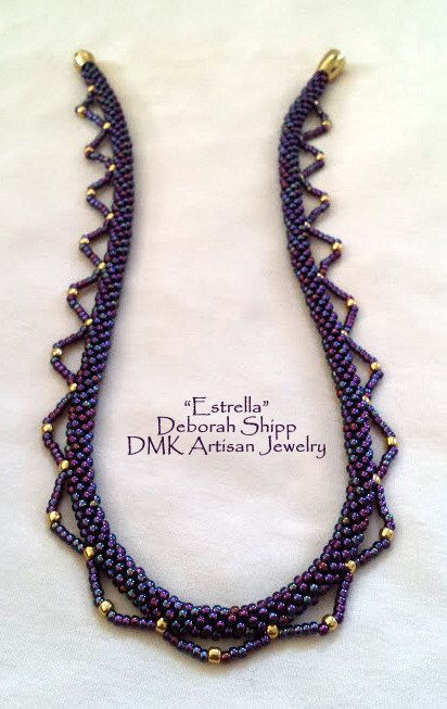 "TUTORIAL ONLY - ""Estrella"" Kumihimo Necklace by DMKArtisanJewelry on Etsy https://www.etsy.com/listing/267225117/tutorial-only-estrella-kumihimo-necklace"