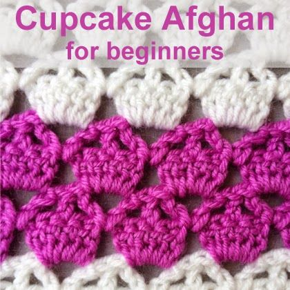 Crochet For Children: Cupcake Afghan for beginners ༺✿ƬⱤღ  https://www.pinterest.com/teretegui/✿༻