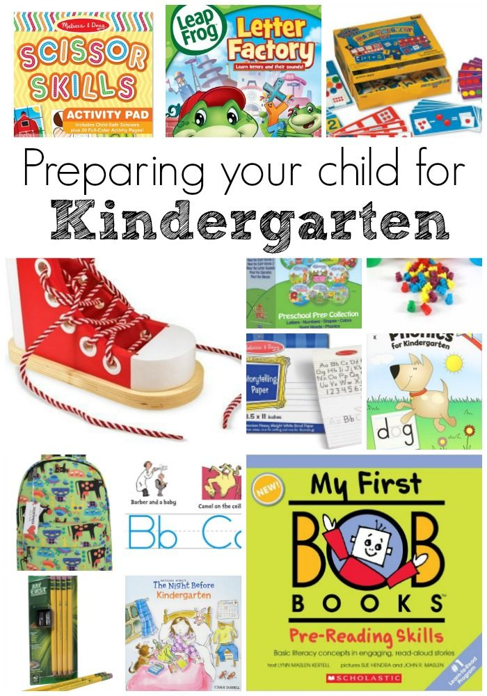 The best way to prepare your child for Kindergarten. Here are some things they need to know, and items to help them prepare for their first day!