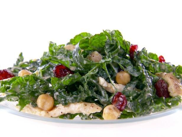 Get Giada De Laurentiis's Kale and Hummus Salad Recipe from Food Network