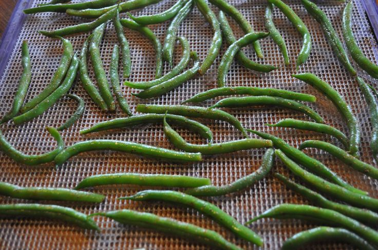 Dehydrated Spicy Green Beans - yum!