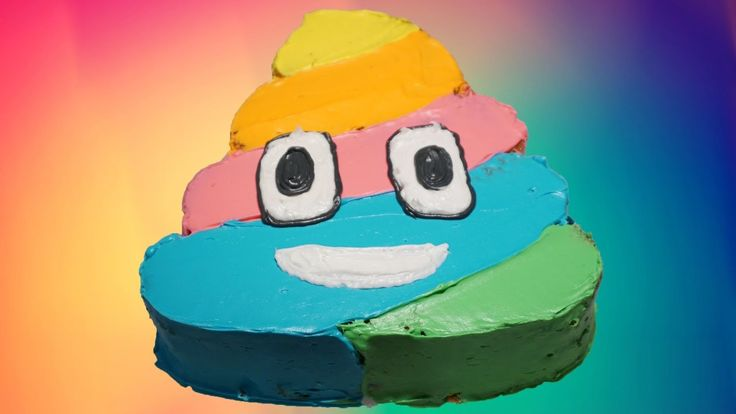 How To Make a RAINBOW POOP EMOJI CAKE!  - YouTube