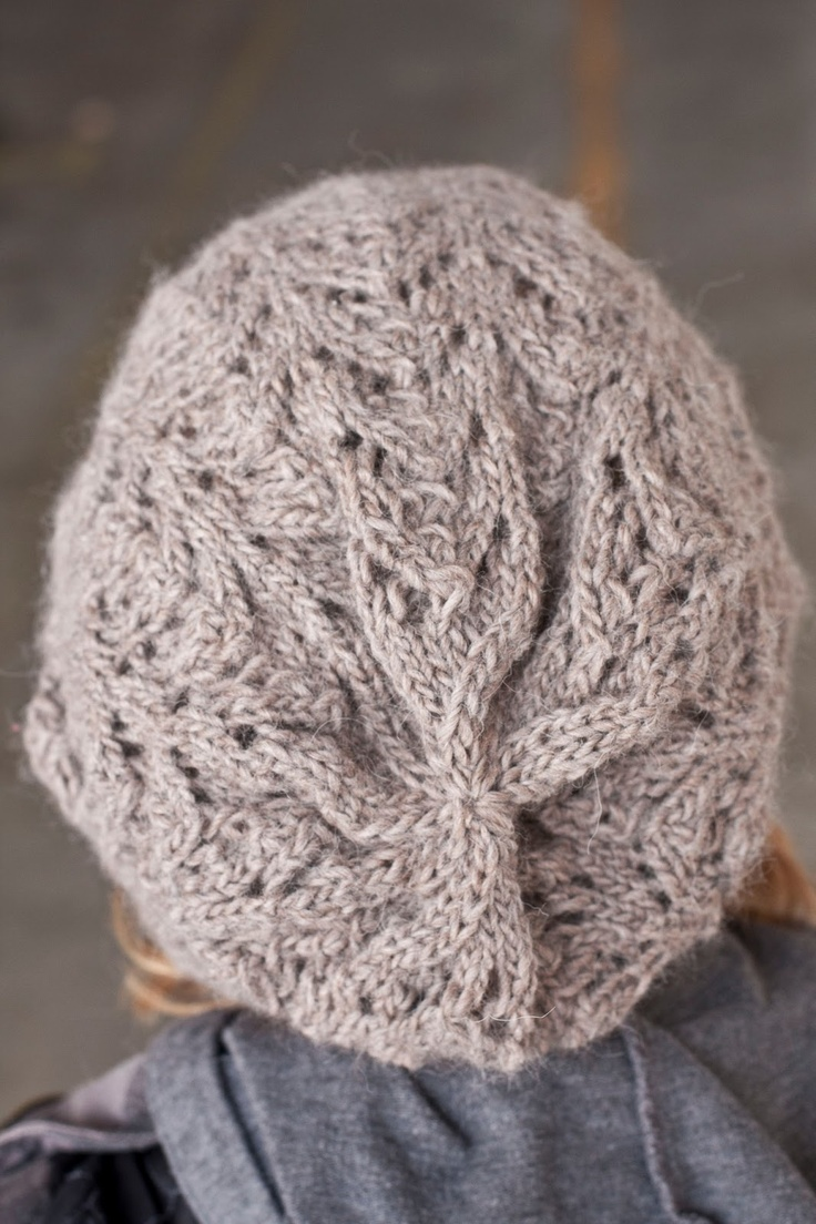 Fishtail Lace Slouch Hat Knitting - Hats, Gloves & Mittens Pinterest ...
