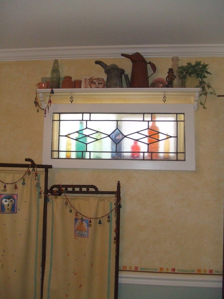 Hide That Ugly Bath Window Could Hang Stain Glass In