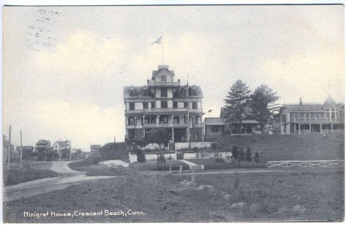 Crescent Beach CT Ninigret House Rotograph Postcard | eBay