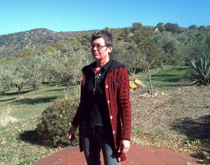 Kit per fare a maglia, SCIACCA, un bellissimo cardigan feminile in lana by domoras on Etsy