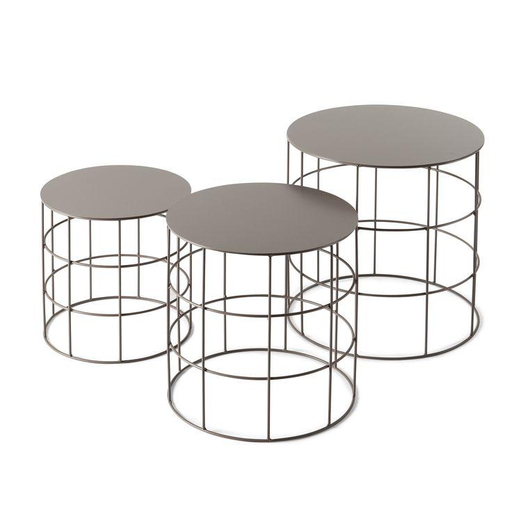 Reton Round Coffee Table, Set of 3