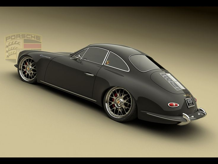 Porsche Panamera 1965 Design Concept by Bo Zolland - Black Rear Angle - 1024x768 - Wallpaper