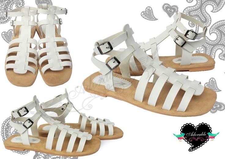 Sabree White Sandals 115K
