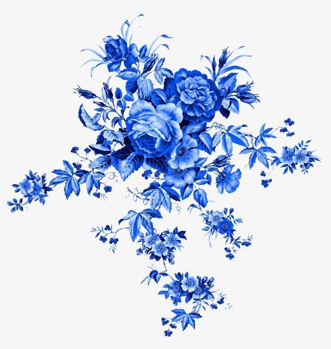 1dfb8290cd10 Azul Tatuagem, Tatuagem Flor, Flores Azuis, Imagens De Flores, Adesivos De  Unhas