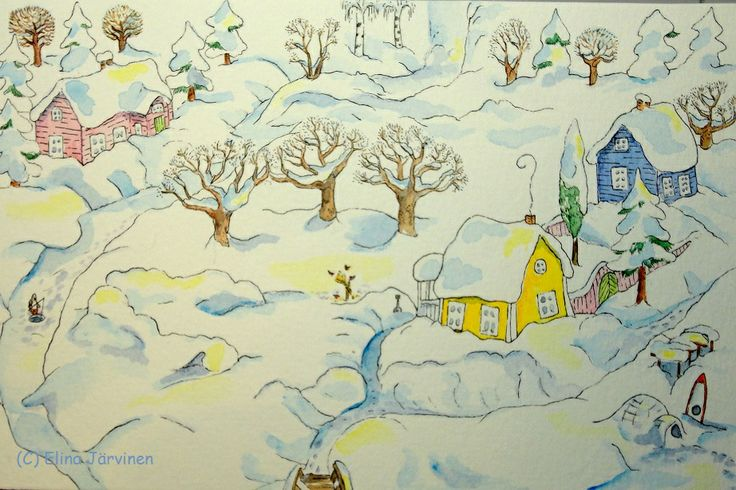 Winter. By Elina Järvinen. I love winter the best. With snow, of course.