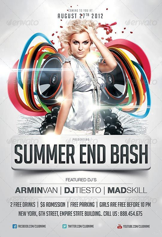 49 best NightClub Flyer Design images on Pinterest Party flyer - labour day flyer template