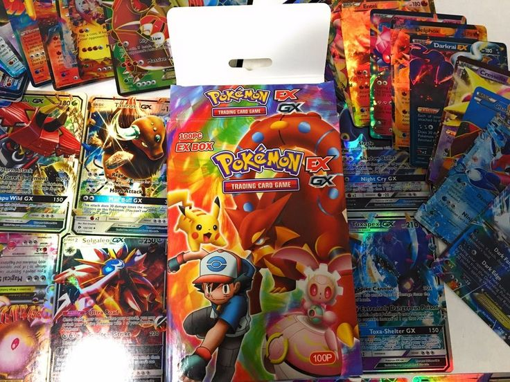Pokemon 100 Card Lot - Trading Card Game EX GX Expand your Game PLAY ONLINE #Pokemon