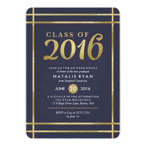 Gold Graduation Party Invitation Choose Your Color 2016 Graduation Invites