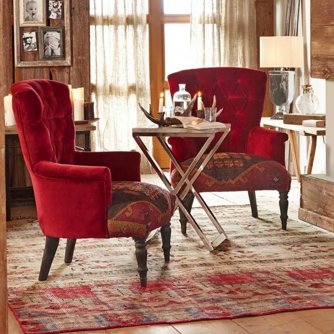 Sessel Hinsdale rot günstig und sicher online bestellen!