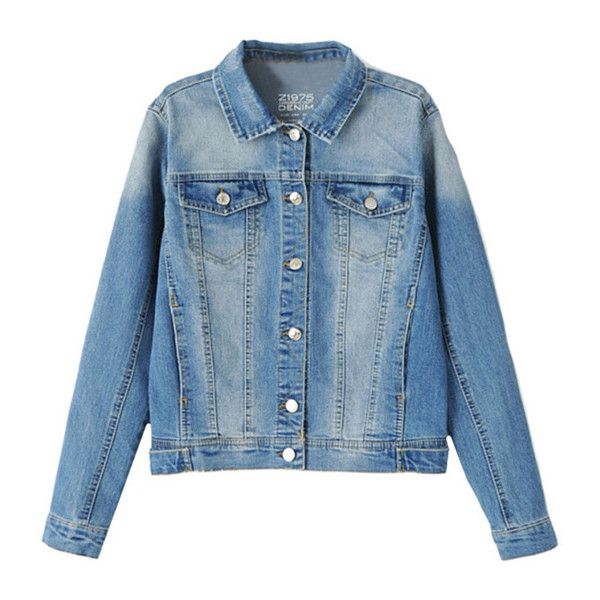 Old Favourite Denim Jacket with Patch Pocket Detail ($34) ❤ liked on Polyvore featuring outerwear, jackets, shirts, blue, patch pocket jacket, short jean jacket, patched jean jacket, jean jacket and denim jacket