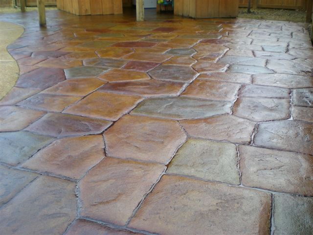 Stained concrete patio for the home pinterest for Stained concrete patio pictures
