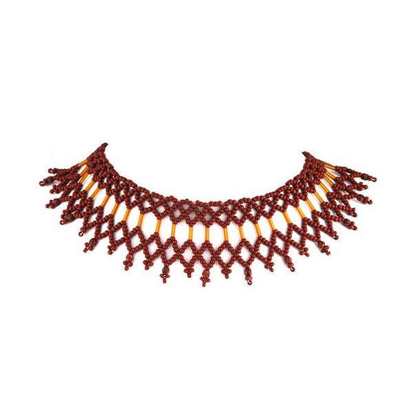 Handmade Ecaille Beaded Choker Necklace (€60) ❤ liked on Polyvore featuring jewelry, necklaces, beaded choker, beaded necklaces, choker jewelry, beading necklaces and beaded choker necklace