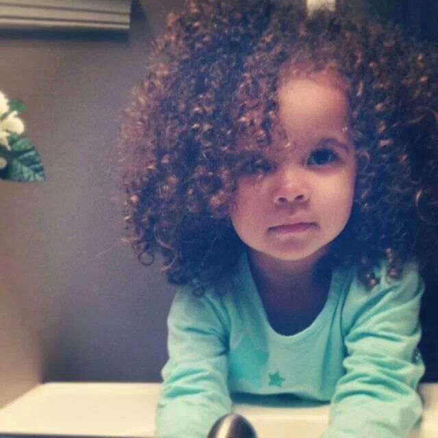 Curly baby girl. #natural #curls #hair | Someday