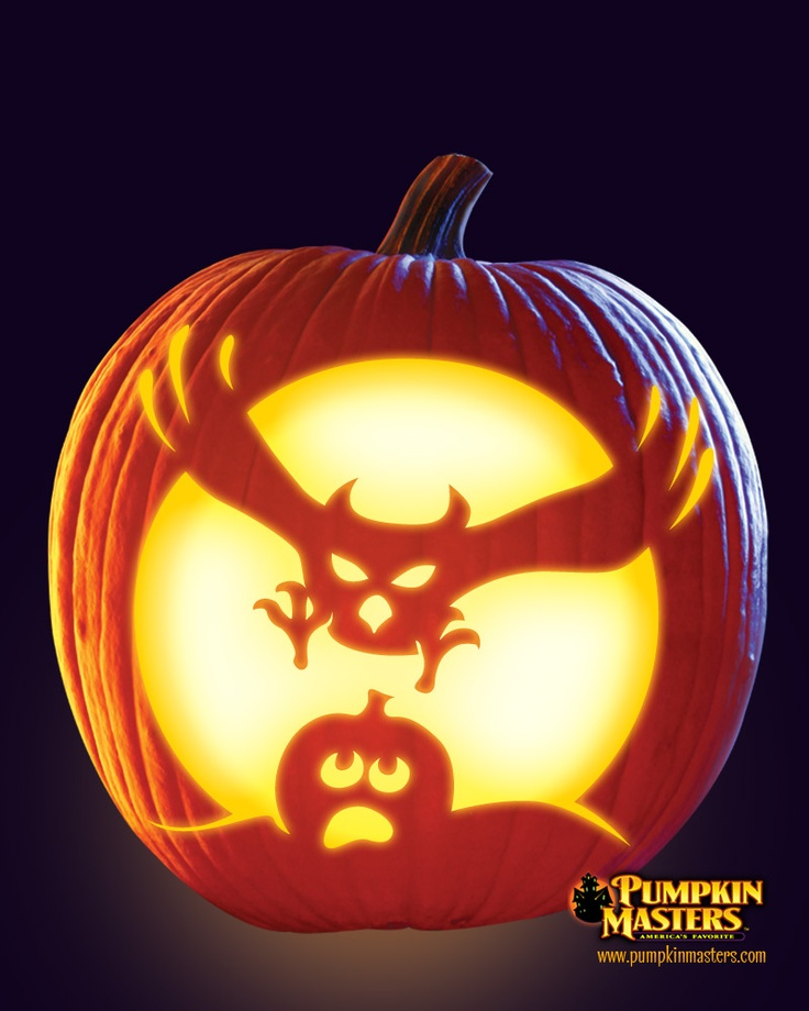 """""""Swoop!"""" pattern from the Pumpkin Masters Carving Party Kit."""