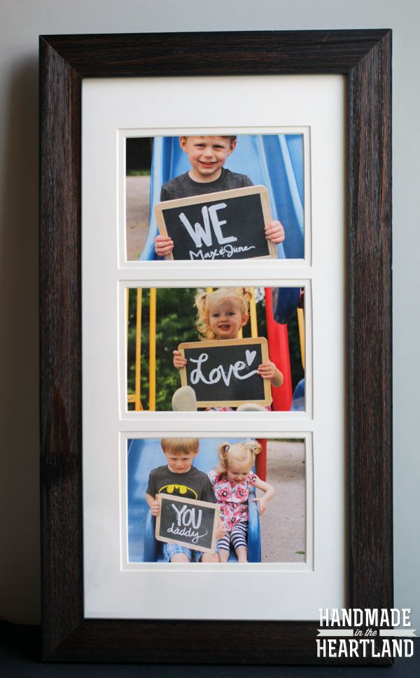 Fotogeschenk zum Vatertag // Photo Gift Ideas for Father's Day von Handmade in the Heartland (engl.)
