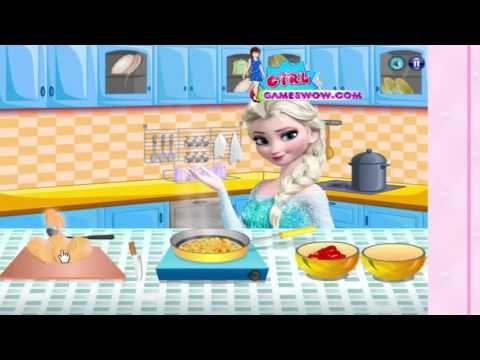 Disney Frozen Game Elsa checken season Дисней Замороженный игры Эльза ch...