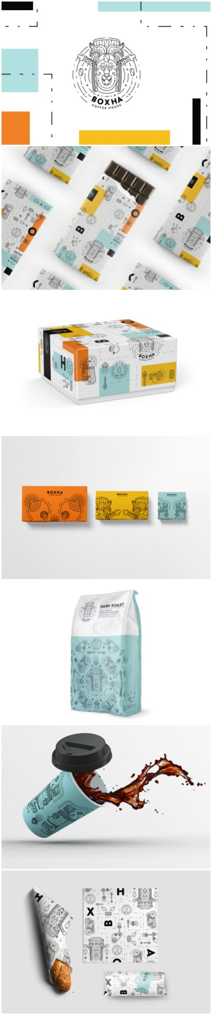 Mexican Coffee House Embracing Ancient Illustrations for their Coffee Packaging Design Design Agency: Eme Design Studio Brand / Project Name: Boxha Coffee House Location: United States America Category: #Coffee #Beverages #Drinks World Brand & Packaging Design Society