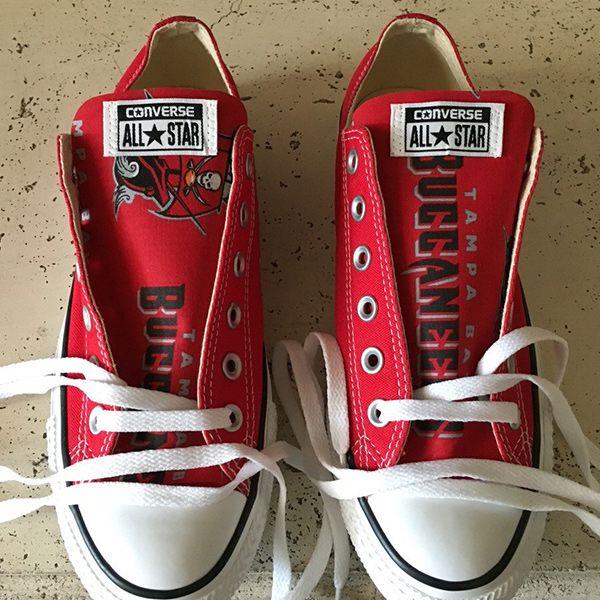 Tampa Bay Buccaneers Converse - http://cutesportsfan.com/tampa-bay-buccaneers-designed-sneakers/