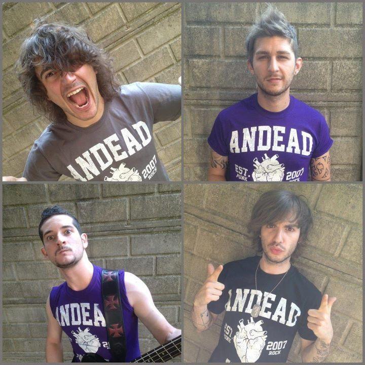 The band. Crazy boys!