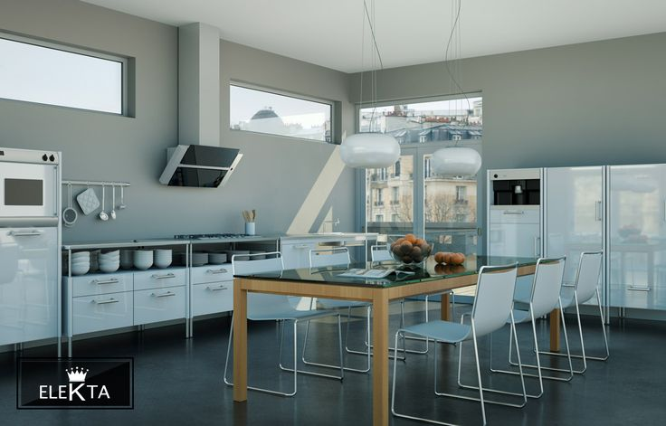 The natural G40 is used superably for the flooring of this modern kitchen.