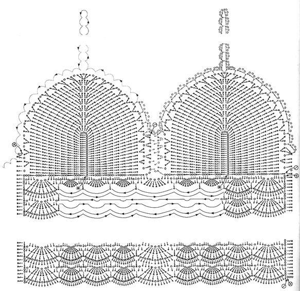 Схема для вязаного лифа Мужские трусы
