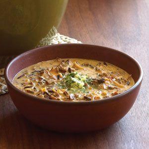 Wild Rice and Mushroom Soup | MyRecipes.com