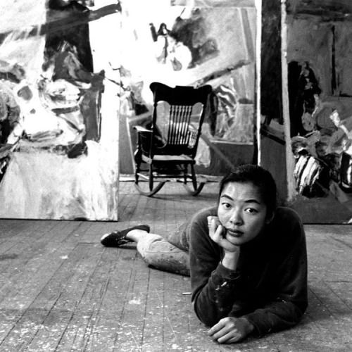 """ BERNICE BING. Chinese American lesbian artist involved in the San Francisco art scene in the 1960s. She was known for her interest in the Beats and Zen Buddhism and for ""calligraphy inspired abstraction"" in her paintings...."