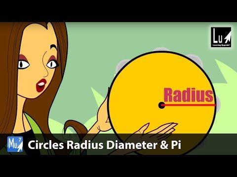 Circles Radius Diameter & Pi Song – Learn Geometry – Learning Upgrade App - YouTube