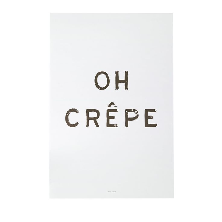 Poster Oh Crepe | Posters | Sissy-Boy Online store