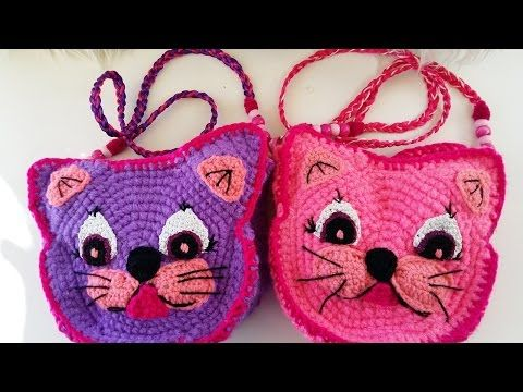 "Como tejer Bolista de ""Hello Kitty"" (Subtitles in English) Parte 1/ Part 1 - YouTube"