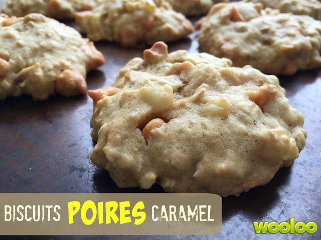 Une délicieuse recette de biscuits aux poires et caramel.