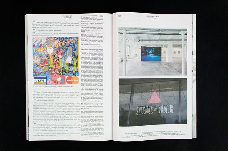Mousse Magazine #53 ~ #richardhawkins #andrewdurbin #conversation #art #contemporaryart #magazine #moussemagazine